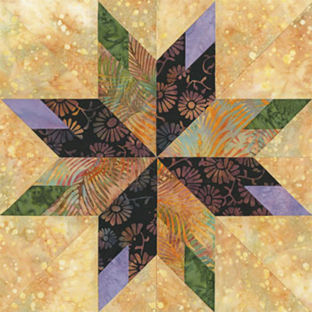 Star of Plano Paper Pieced Quilt Block Pattern