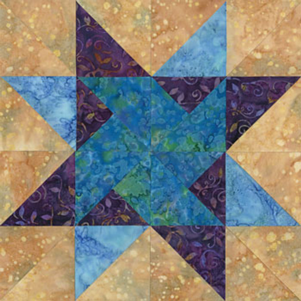 Surreal St Petersburg Paper Pieced Quilt Block Pattern