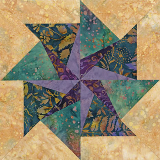 Tampa Whirlwind Paper Pieced Quilt Block Pattern