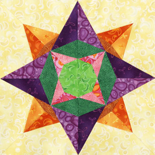 Lesath Paper Pieced Quilt Block Pattern