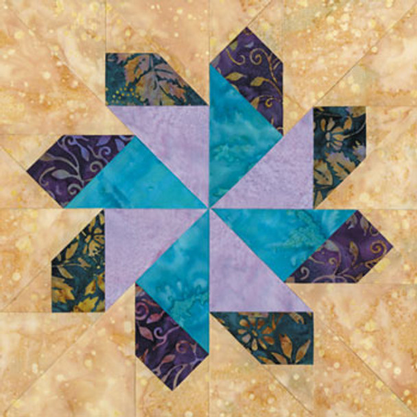 Windy City of Chicago Paper Pieced Quilt Block Pattern