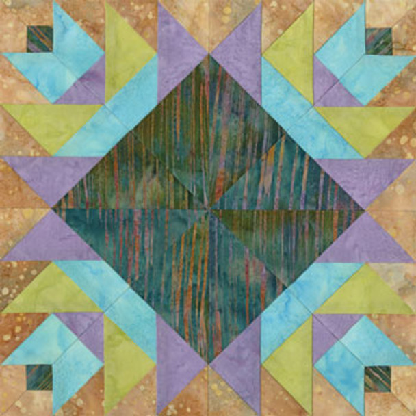 Yerba Buena Beauty Paper Pieced Quilt Block Pattern