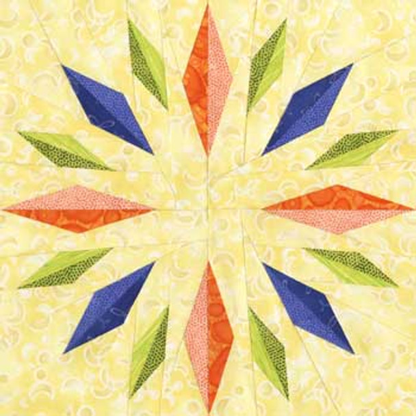 Thuban Paper Pieced Quilt Block Pattern