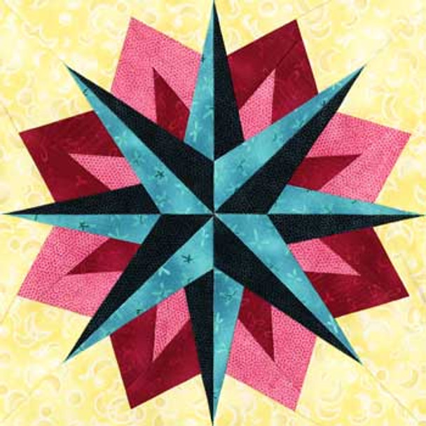 Wezen Paper Pieced Quilt Block Pattern
