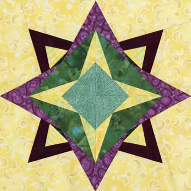 Yildun Paper Pieced Quilt Block Pattern