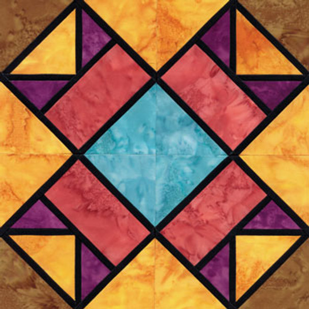 Stained Glass Aunt Nancy's Favorite Paper Pieced Quilt Block Pattern