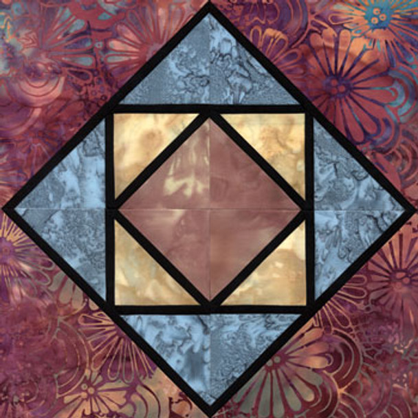 Stained Glass Cradlesong Paper Pieced Quilt Block Pattern