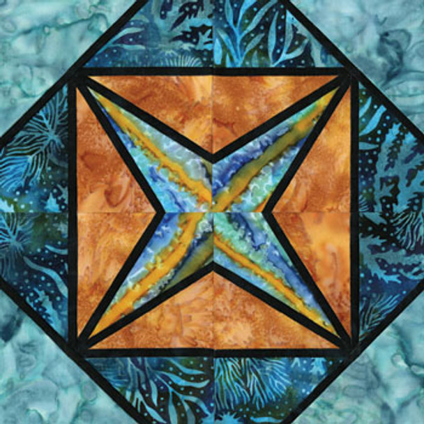 Stained Glass Daybreak Paper Pieced Quilt Block Pattern