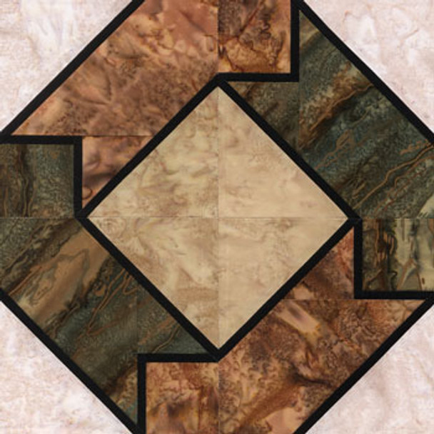 Stained Glass Elk Horn Paper Pieced Quilt Block Pattern