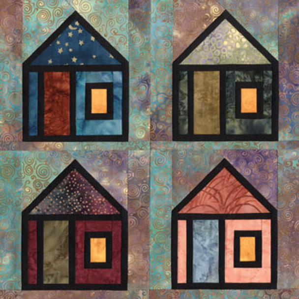 Stained Glass Getaway Paper Pieced Quilt Block Pattern