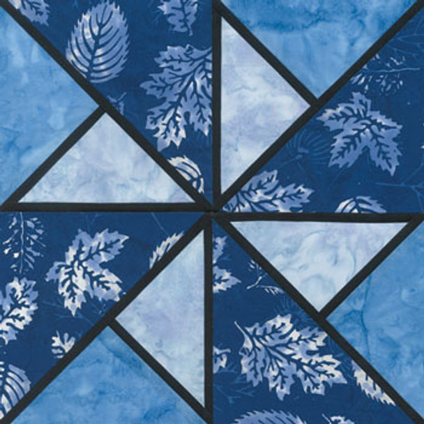 Stained Glass Locomotion Paper Pieced Quilt Block Pattern