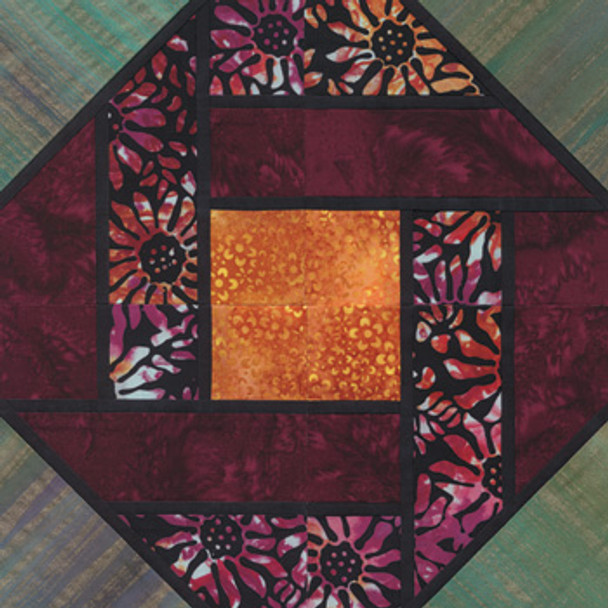 Stained Glass Redolent Paper Pieced Quilt Block Pattern