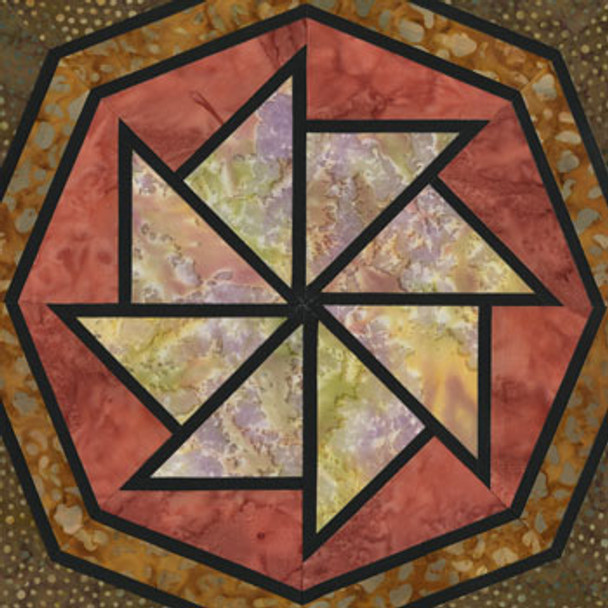 Stained Glass World's Fair Paper Pieced Quilt Block Pattern