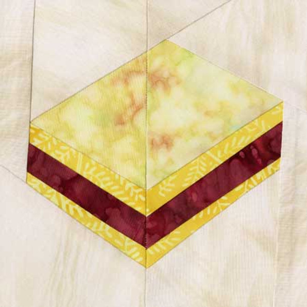 Lemon Raspberry Petit Four Paper Pieced Quilt Block Pattern