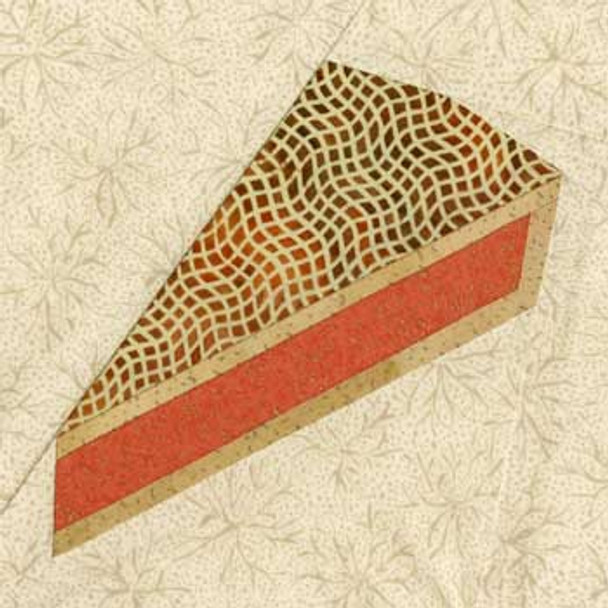 Peach Praline Pie Paper Pieced Quilt Block Pattern