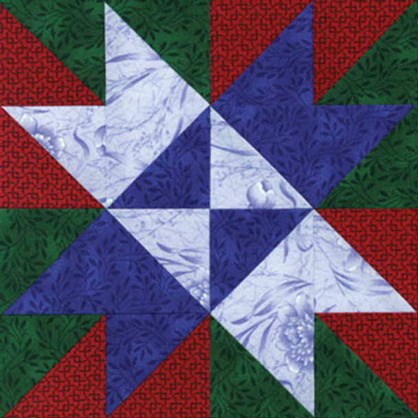 Confetti Star Paper Pieced Quilt Block Pattern
