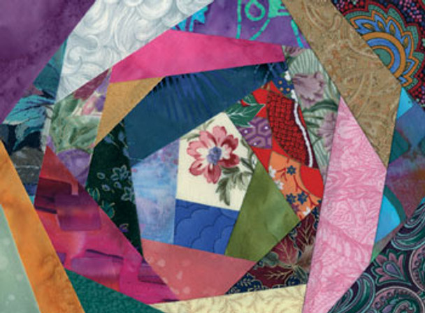 Crazy Quilt 1 Paper Pieced Quilt Block Pattern
