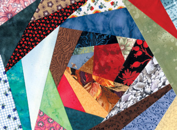 Crazy Quilt 3 Paper Pieced Quilt Block Pattern