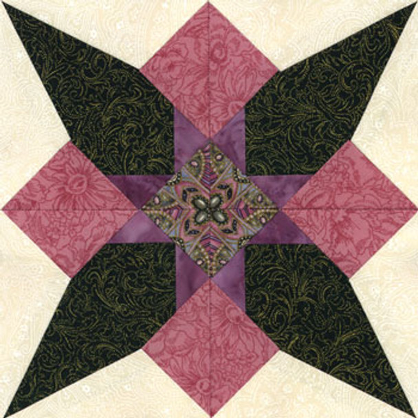Dogtooth Violet Paper Pieced Quilt Block Pattern