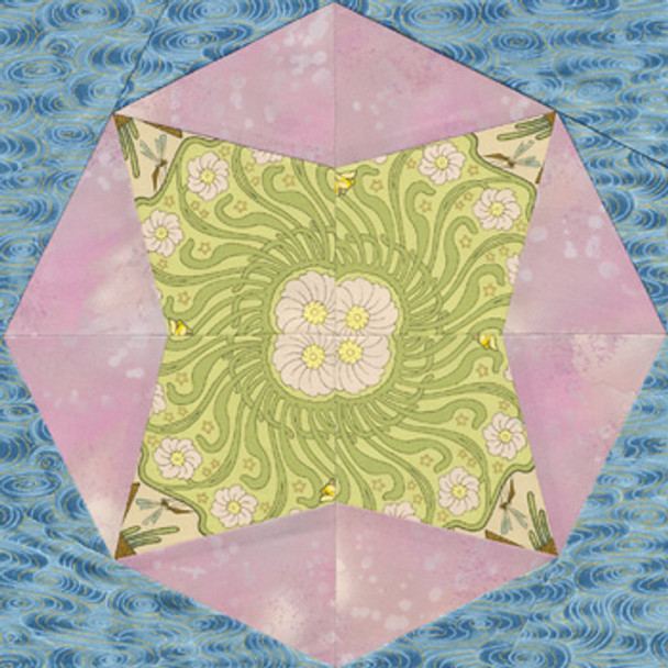 Faceted Star Paper Pieced Quilt Block Pattern
