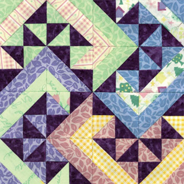Hopscotch Garden Path Paper Pieced Quilt Block Pattern
