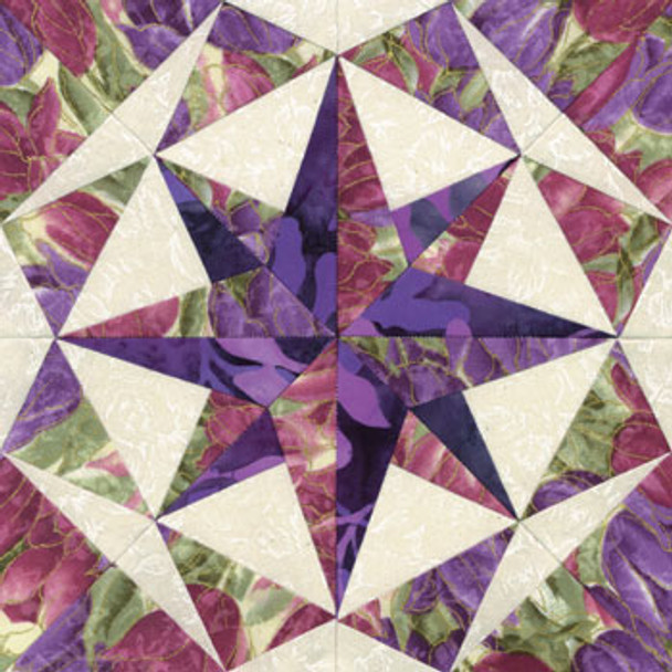 Jewel of the Night Paper Pieced Quilt Block Pattern