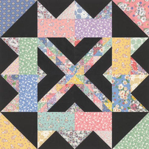 Queen's Crown Paper Pieced Quilt Block Pattern