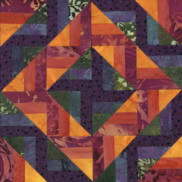 Skyrise Diamond Path Paper Pieced Quilt Block Pattern
