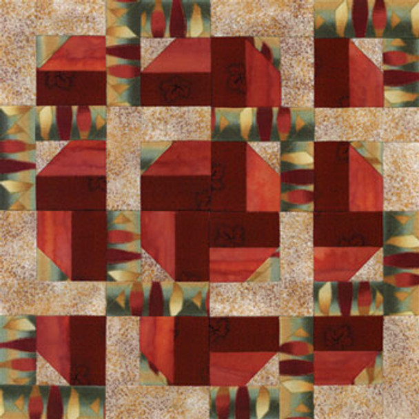 Square Dance Do-Si-Do Paper Pieced Quilt Block Pattern