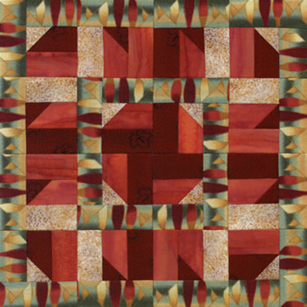 Square Dance Eight Chain Paper Pieced Quilt Block Pattern