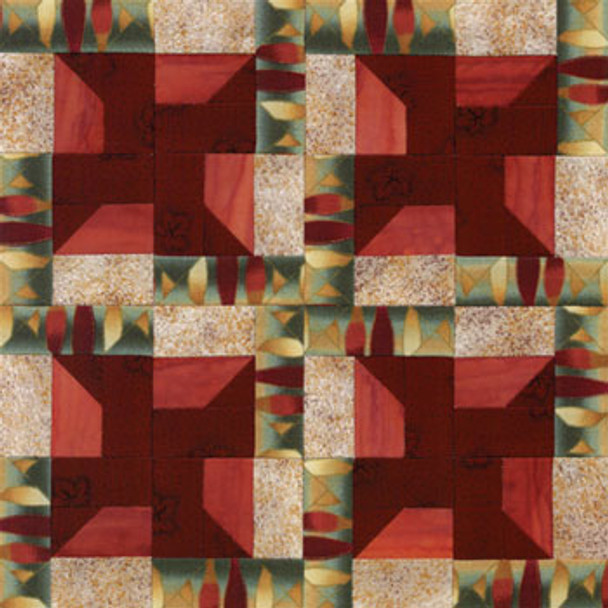 Square Dance Swing Paper Pieced Quilt Block Pattern