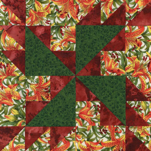 Strawflower Paper Pieced Quilt Block Pattern