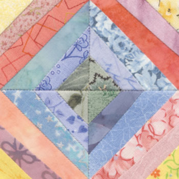 String Diamonds Paper Pieced Quilt Block Pattern