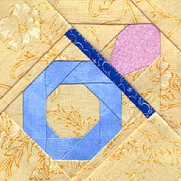 Baby Pacifier Paper Pieced Quilt Block Pattern