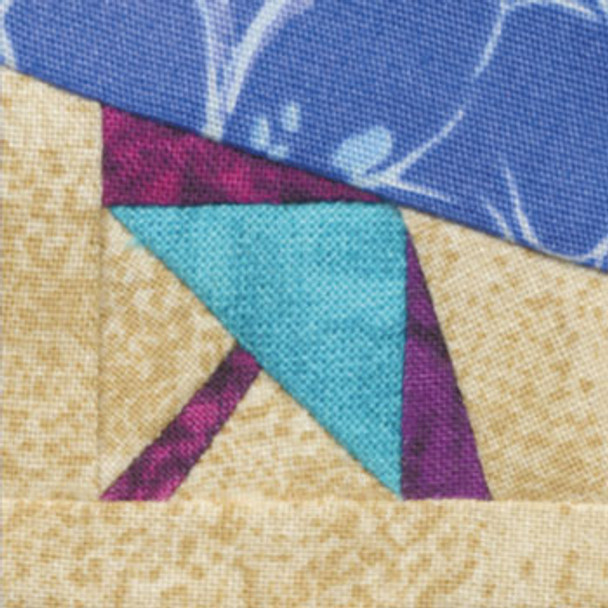 Beach Umbrella Paper Pieced Quilt Block Pattern
