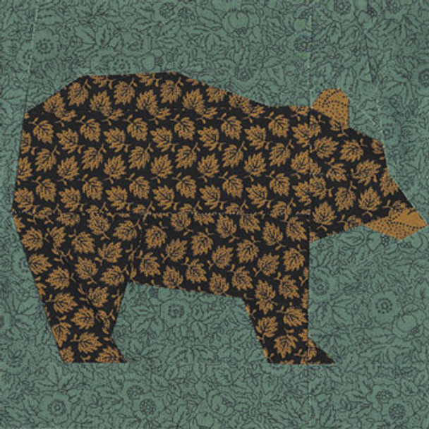 Black Bear Paper Pieced Quilt Block Pattern