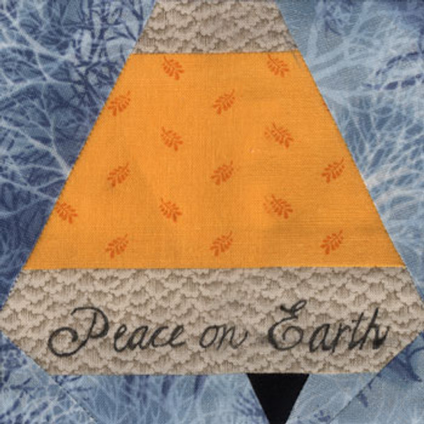 Christmas Bell Paper Pieced Quilt Block Pattern