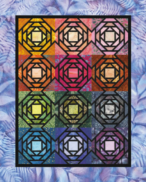 Through the Seasons Paper Pieced Quilt Pattern