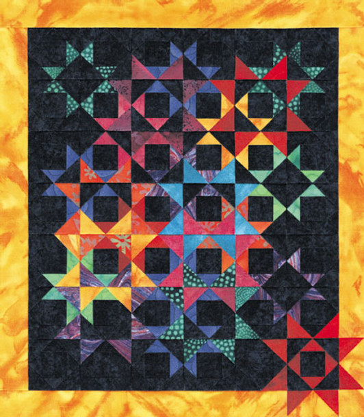 Starry Skies Paper Pieced Quilt Pattern