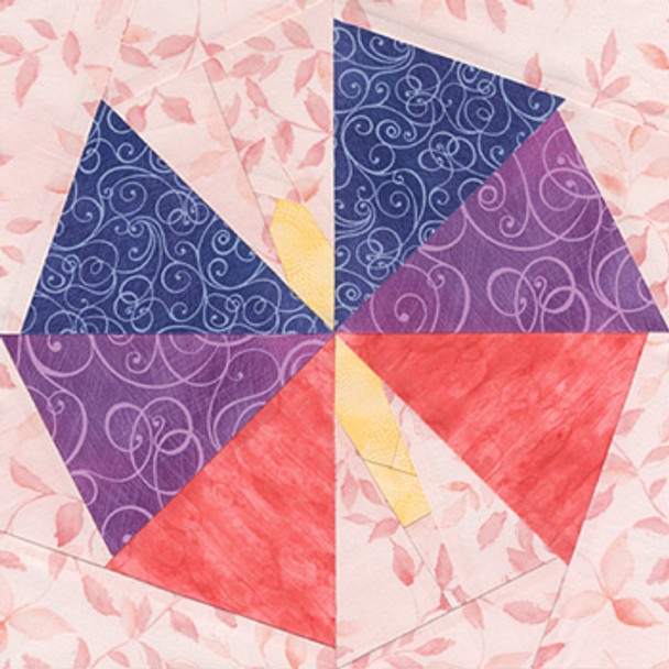Dancing Butterfly Paper Pieced Quilt Block Pattern