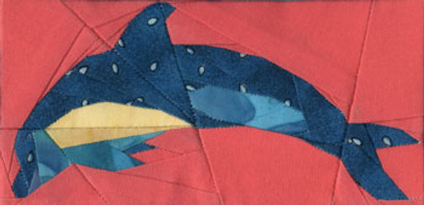 Dolphin Paper Pieced Quilt Block Pattern