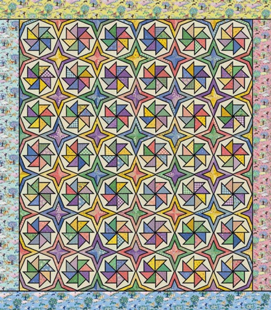 Stained Glass World's Fair Paper Pieced Quilt Pattern