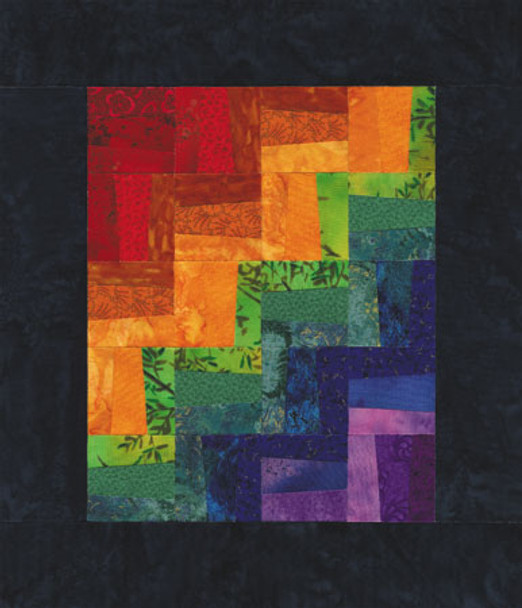 Stacked Wood Paper Pieced Quilt Pattern