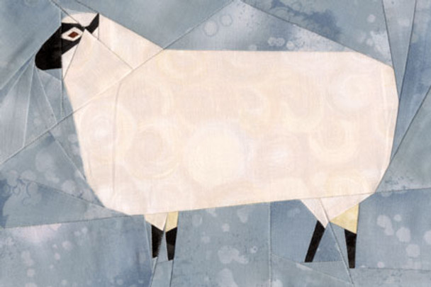 Folk Art Sheep Paper Pieced Quilt Pattern