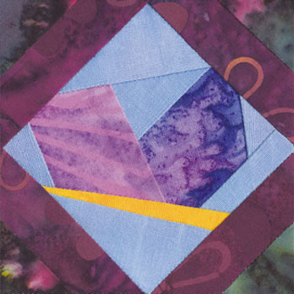 Framed Butterfly Paper Pieced Quilt Block Pattern