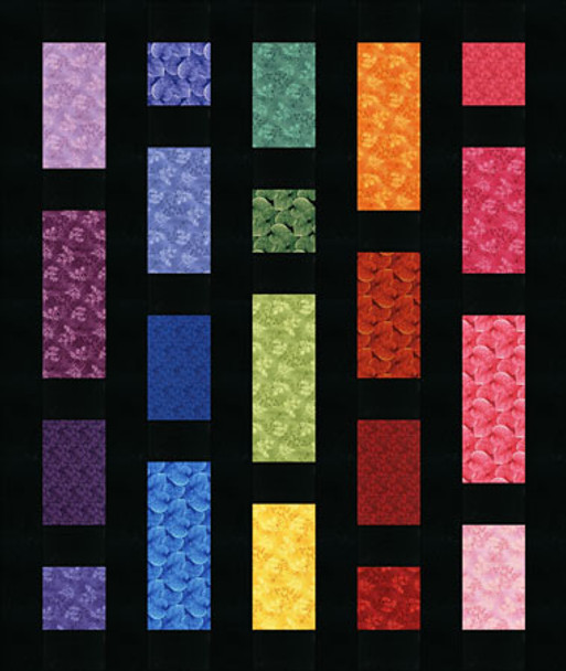 Rainbow Haze Paper Pieced Quilt Pattern