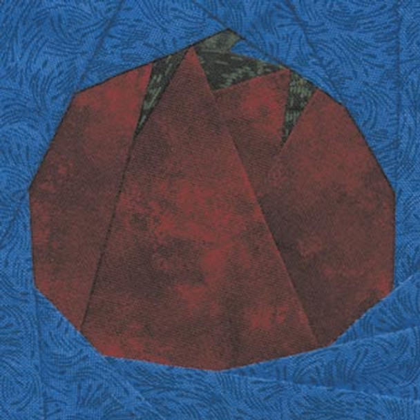 Globe Tomato Paper Pieced Quilt Block Pattern