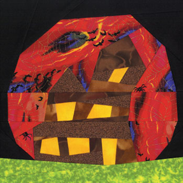 Haunted House Paper Pieced Quilt Block Pattern