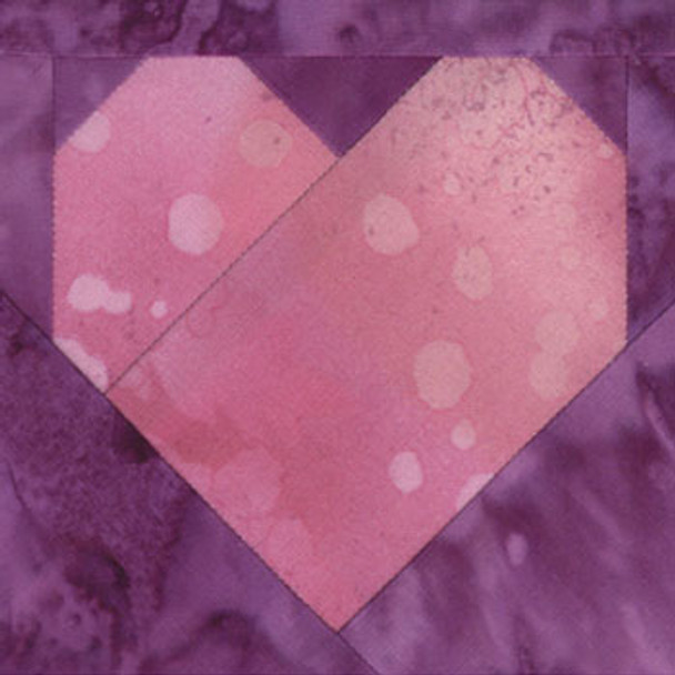 Heart Paper Pieced Quilt Block Pattern
