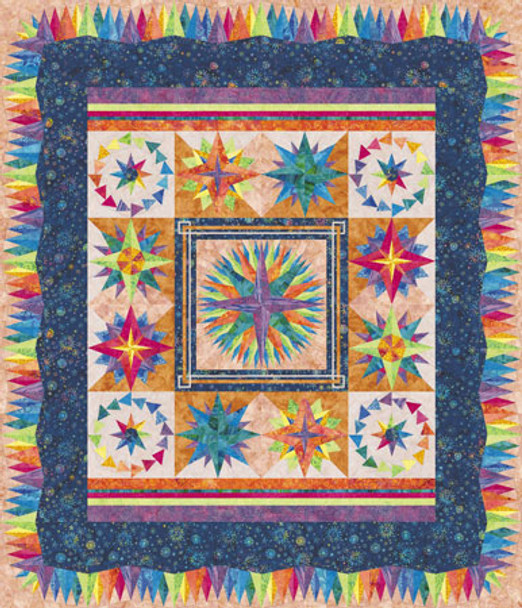Millennium Compass Paper Pieced Quilt Pattern